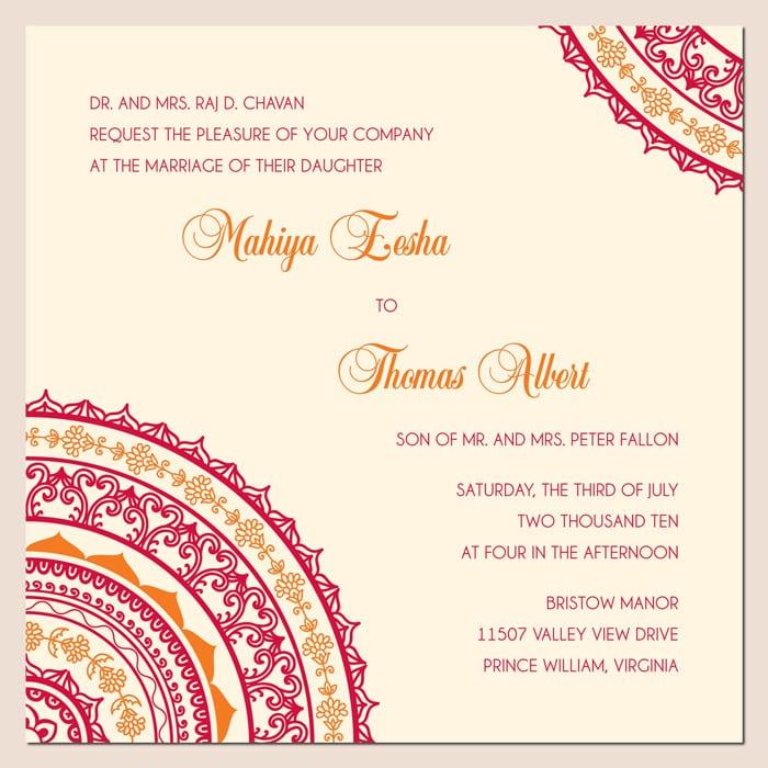 Free Online Hindu Wedding Invitation Cards Designs