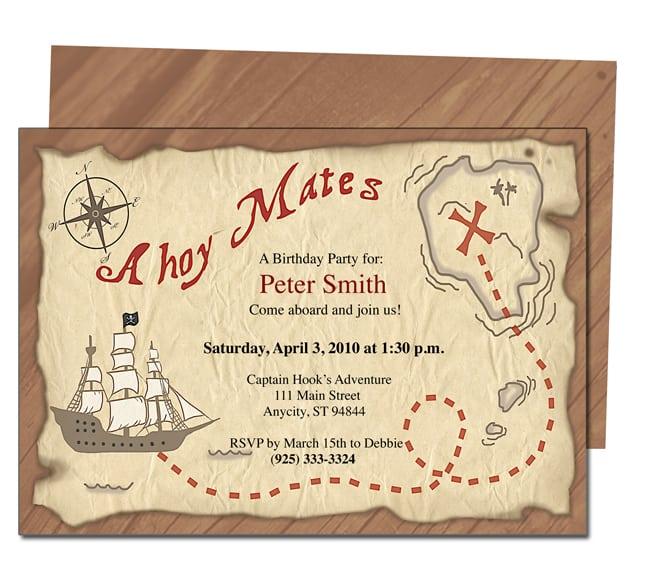 Free Pirate Party Invitation