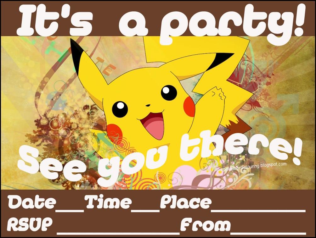 Free Pokemon Printable Invitation