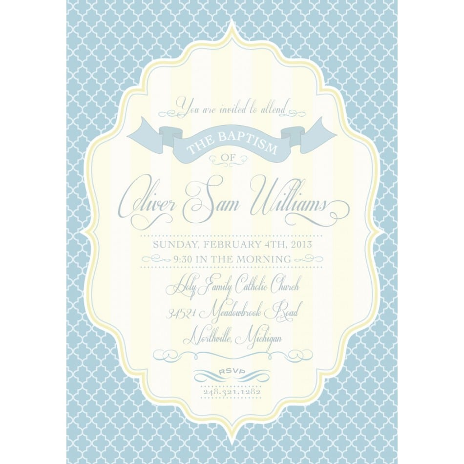 Free Printable Baptism Invitation Template