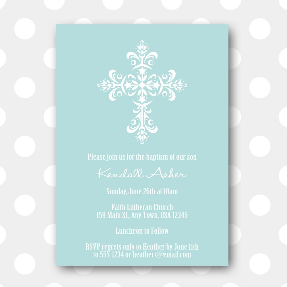 Free Printable Baptism Invitations is an amazing ideas you had to choose for invitation design