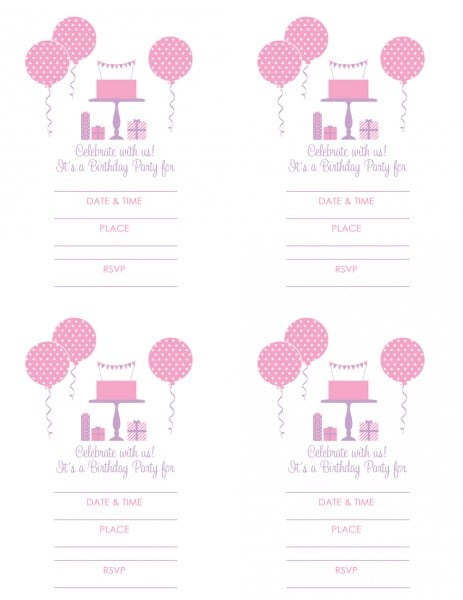 Free Printable Birthday Invitation American Girl
