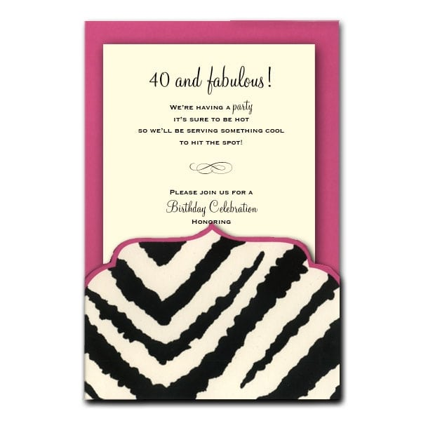 Free Printable Birthday Invitations Zebra