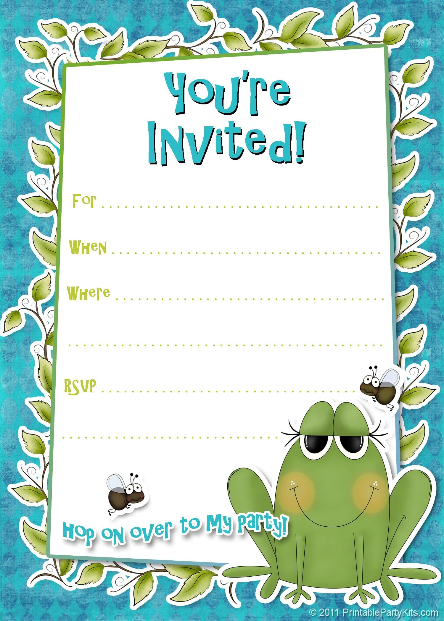 Free Printable Boy Birthday Invitation Templates