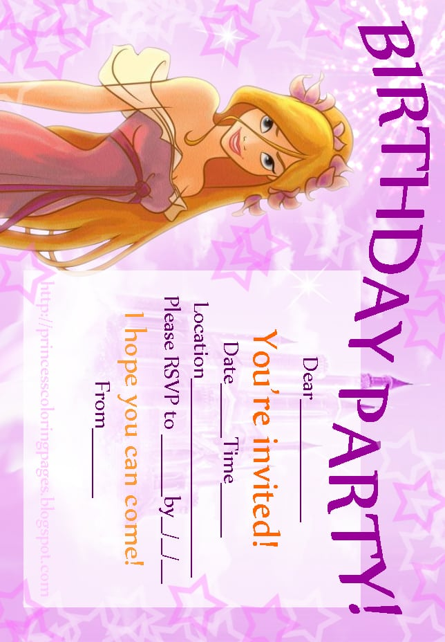 Free Printable Disney Fairies Birthday Invitations