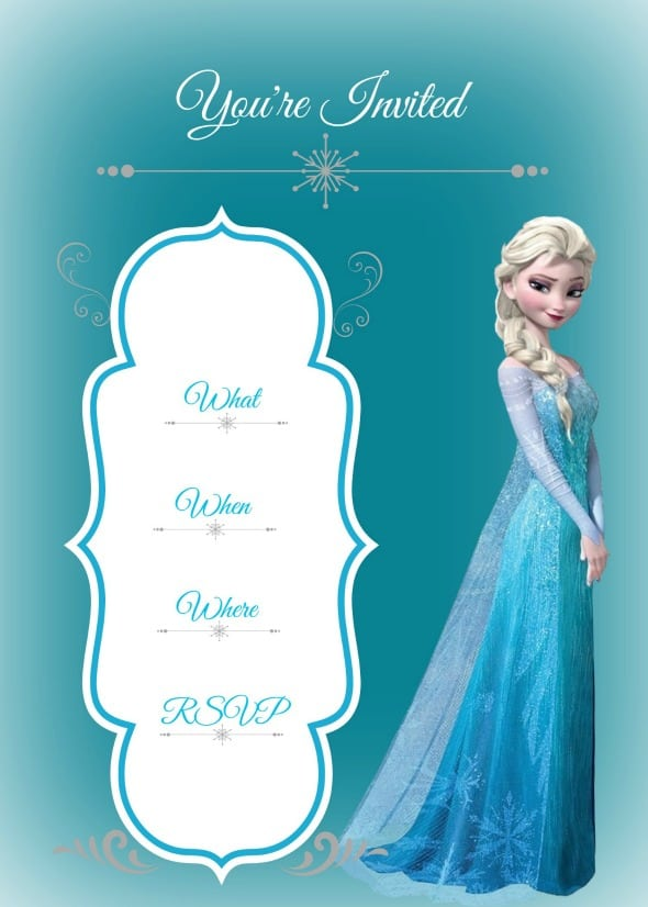 Awesome Disney Frozen Party Invitations Gallery - Invitation Card ...
