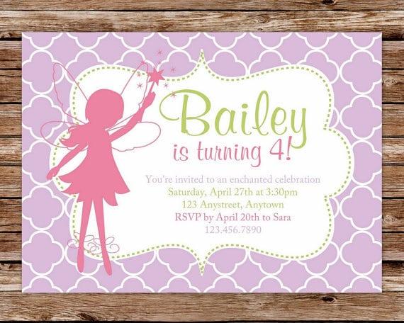 Free Printable Fairy Birthday Invitation