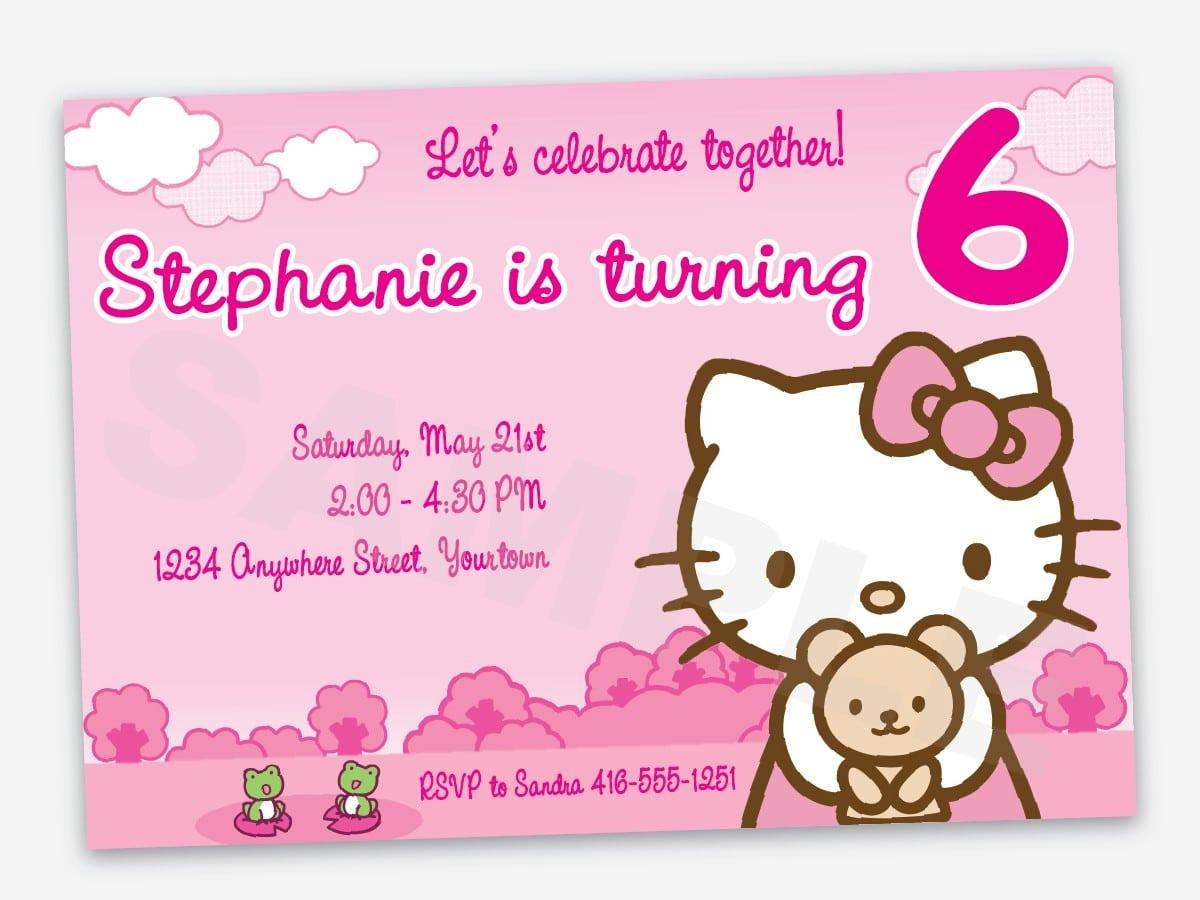 Free Printable Hello Kitty Birthday Invitation
