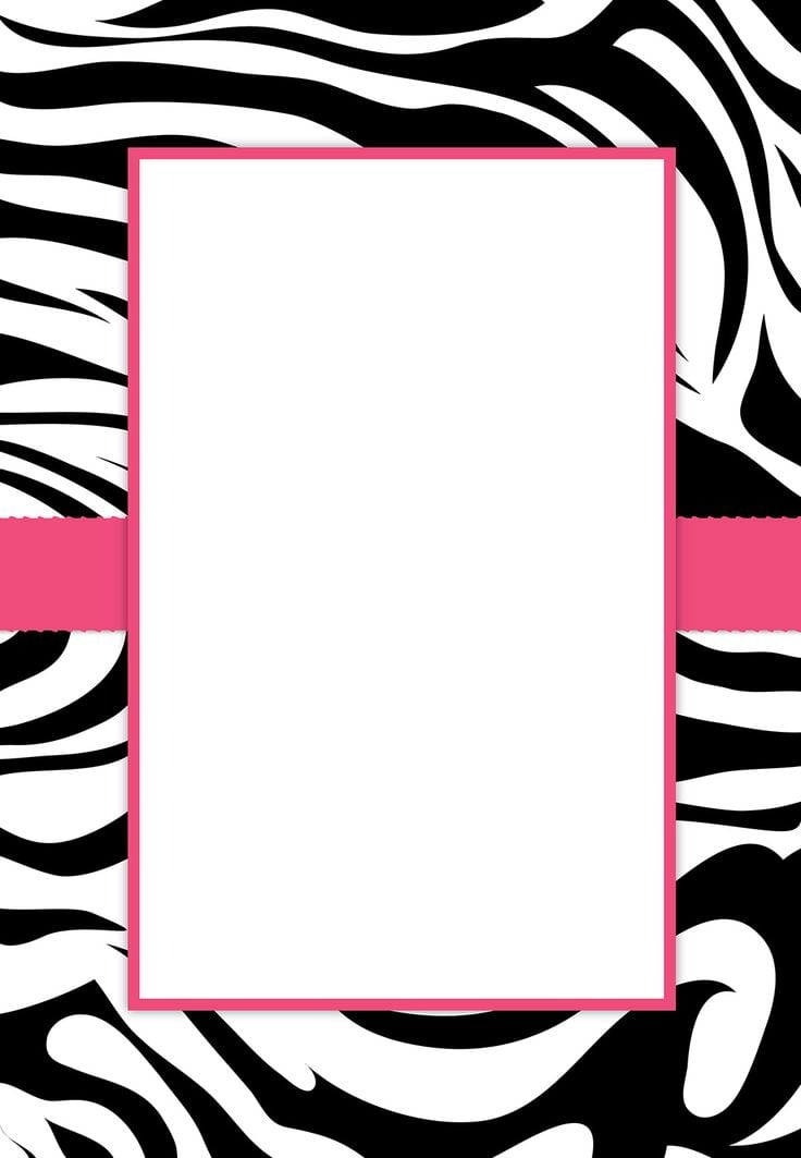 Free Printable Invitation Birthday Zebra