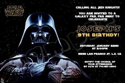 Free Printable Lego Starwars Invitation