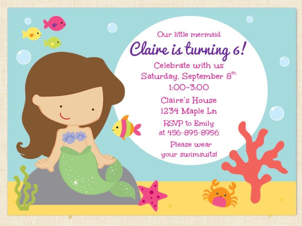 Free printable mermaid birthday invitation filmwisefo Gallery