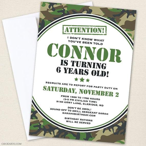 Free Printable Military Birthday Invitations