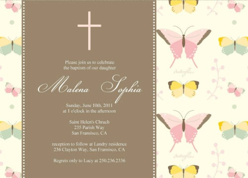 Free Printable Personalized Baptism Invitations