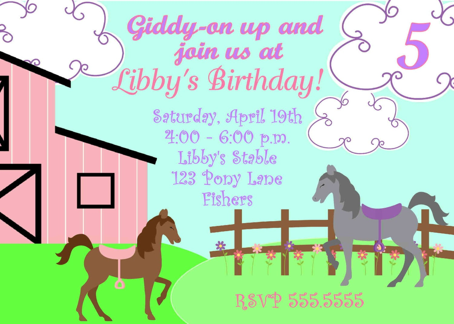 Free Printable Pony Party Invitations