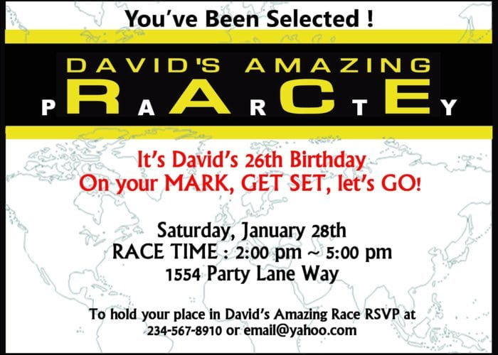 Free Printable Race Car Invitations