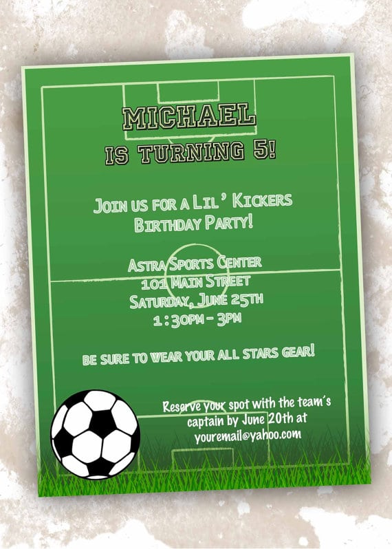Free Printable Soccer Invitation