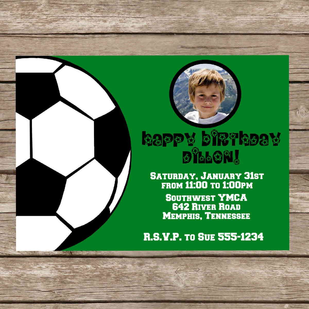 Free Printable Soccer Party Invitations