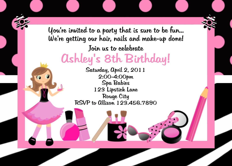 Free printable spa birthday party invitation filmwisefo