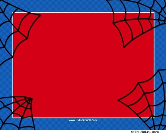 Printable Spiderman Invitation Cards