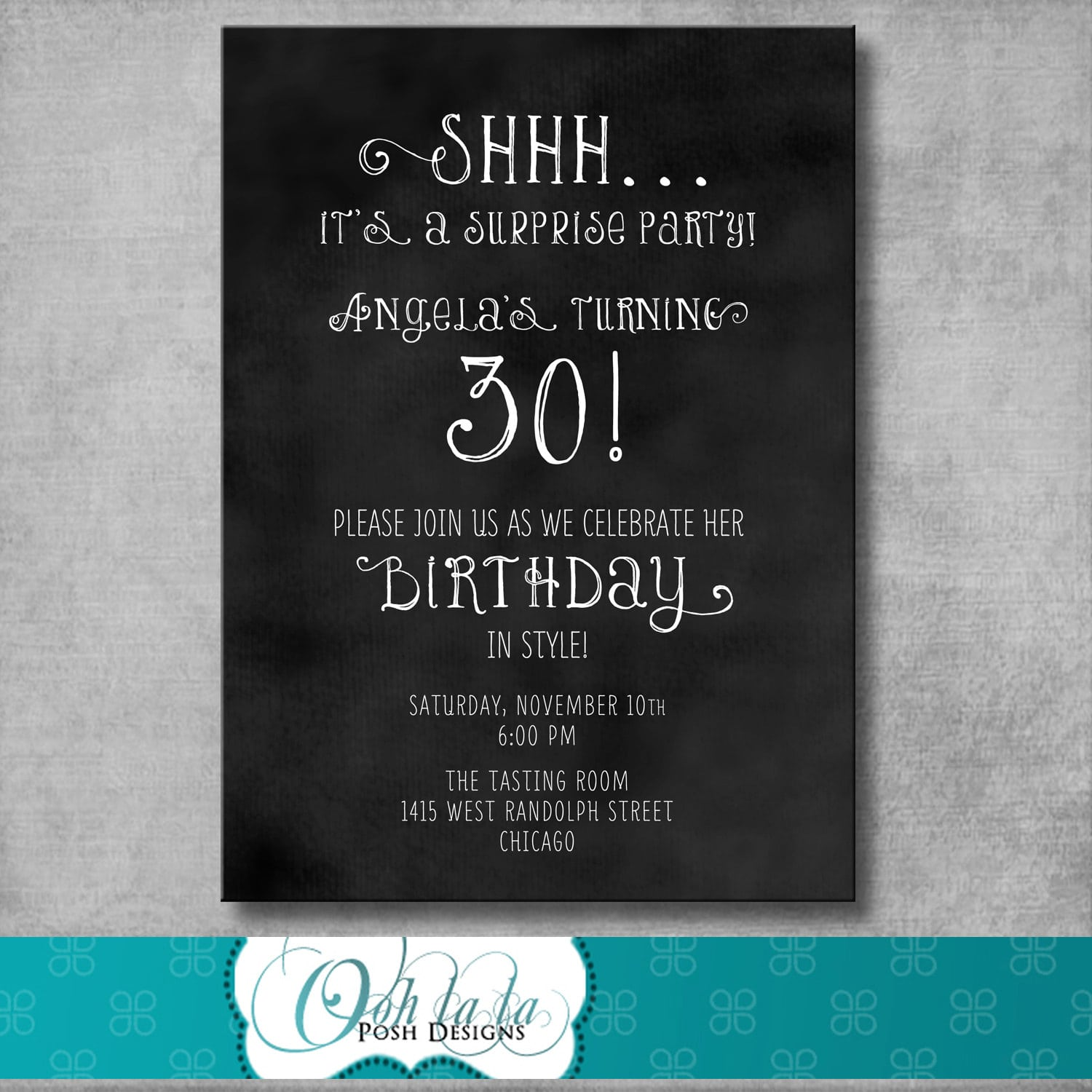 surprise party invites templates
