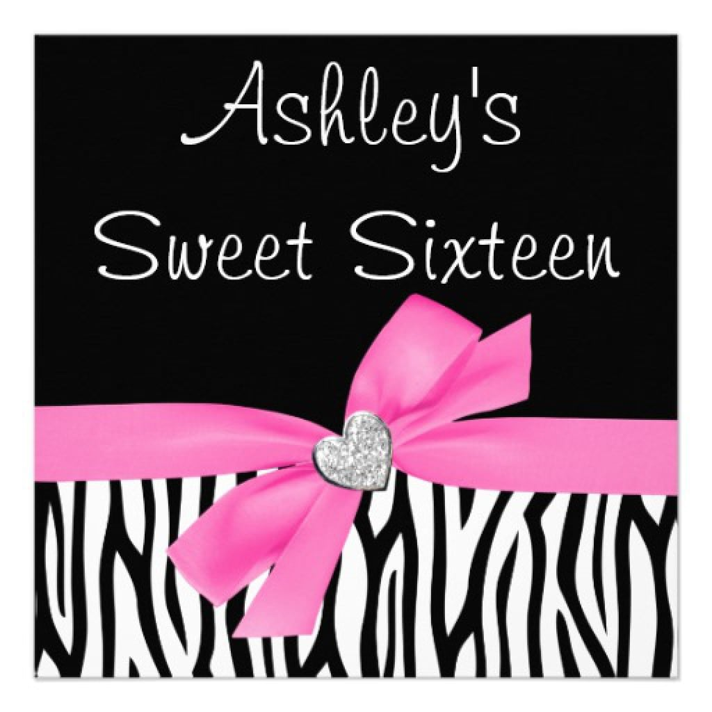 Free Printable Sweet 16 Birthday Invitation Templates