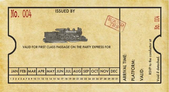 Free Printable Thomas The Train Ticket Invitations