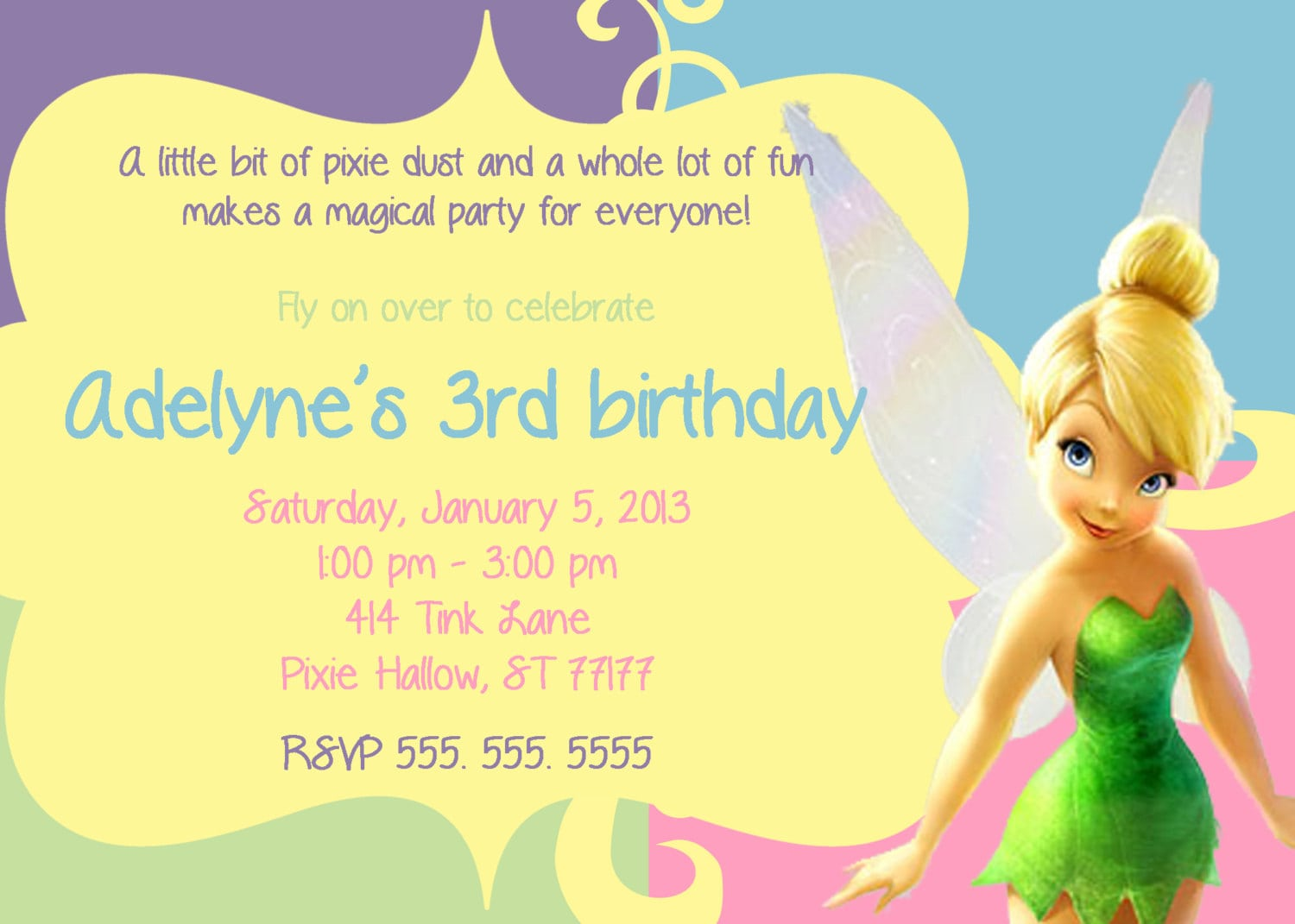Free Printable Tinkerbell Birthday Party Invitation