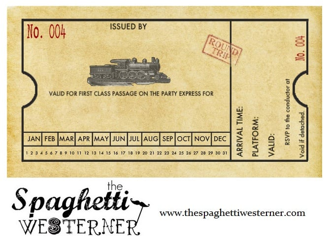 Free Printable Train Ticket Party Invitations