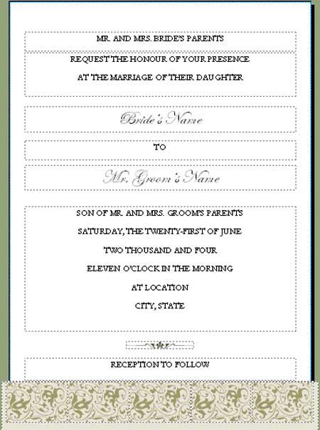 free wedding dinner invitation template printable. Black Bedroom Furniture Sets. Home Design Ideas