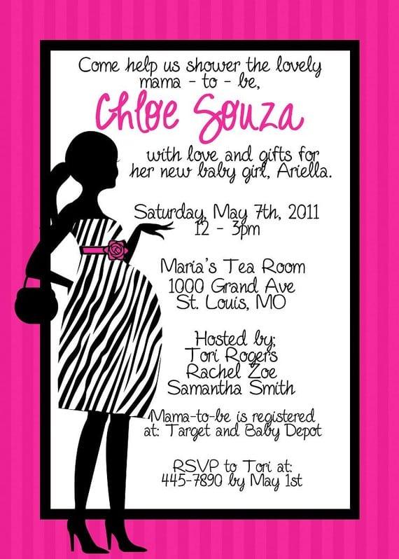 Free Printable Zebra Baby Shower Invitation
