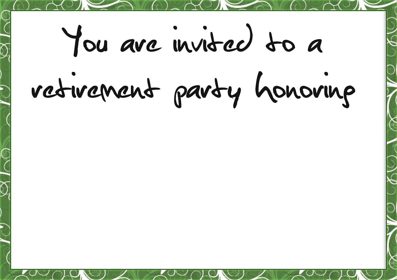 Free Retirement Invitation Cards