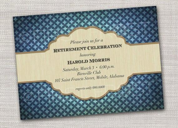 Free Retirement Invitations Printable