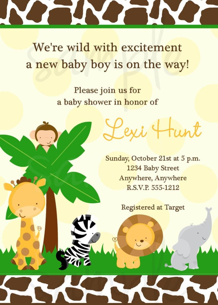 Free Jungle Themed Invitation Template