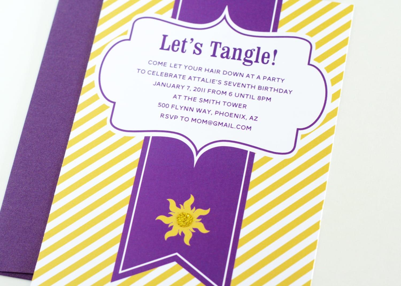 Free Tangled Birthday Invitation