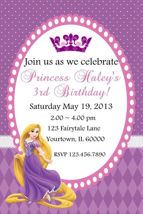 Free Tangled Birthday Invitations