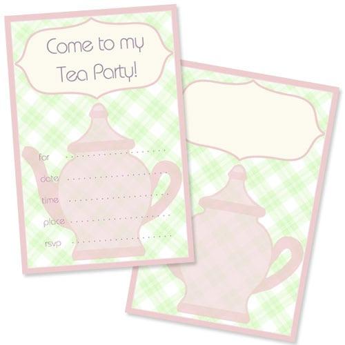 Free Tea Invitation Template