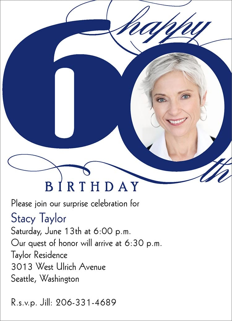 Free Template 60th Birthday Invitations