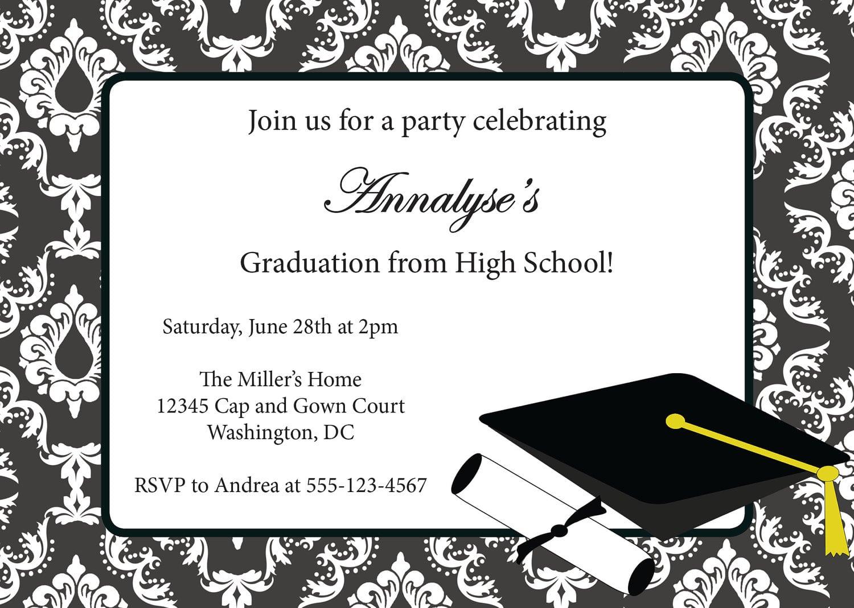 Free Template For Graduation Invitation