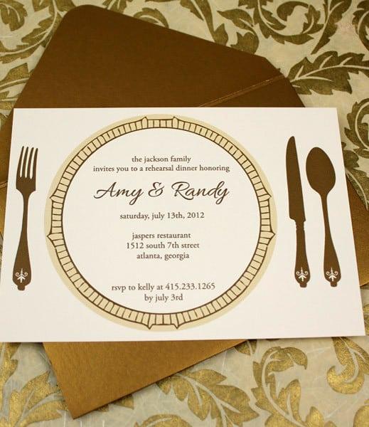 Free Wedding Dinner Invitation Template Printable