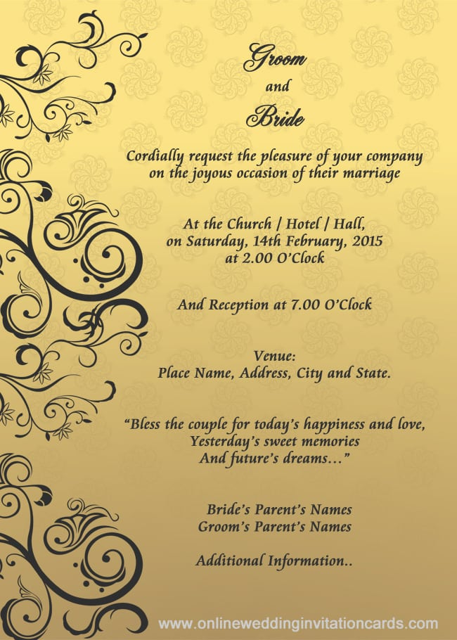 Free Wedding Invitation Cards Online
