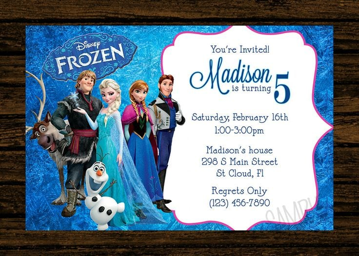 Frozen Party Invitations Printable