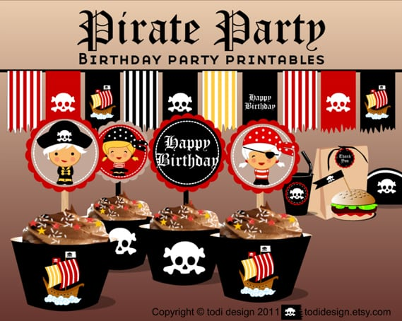 Girl Pirate Party Printables Free