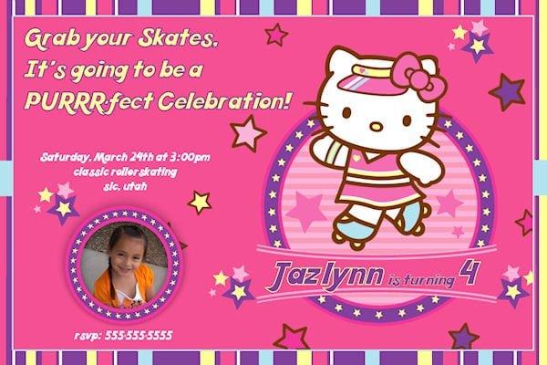 Hello Kitty Birthday Invitation Designs