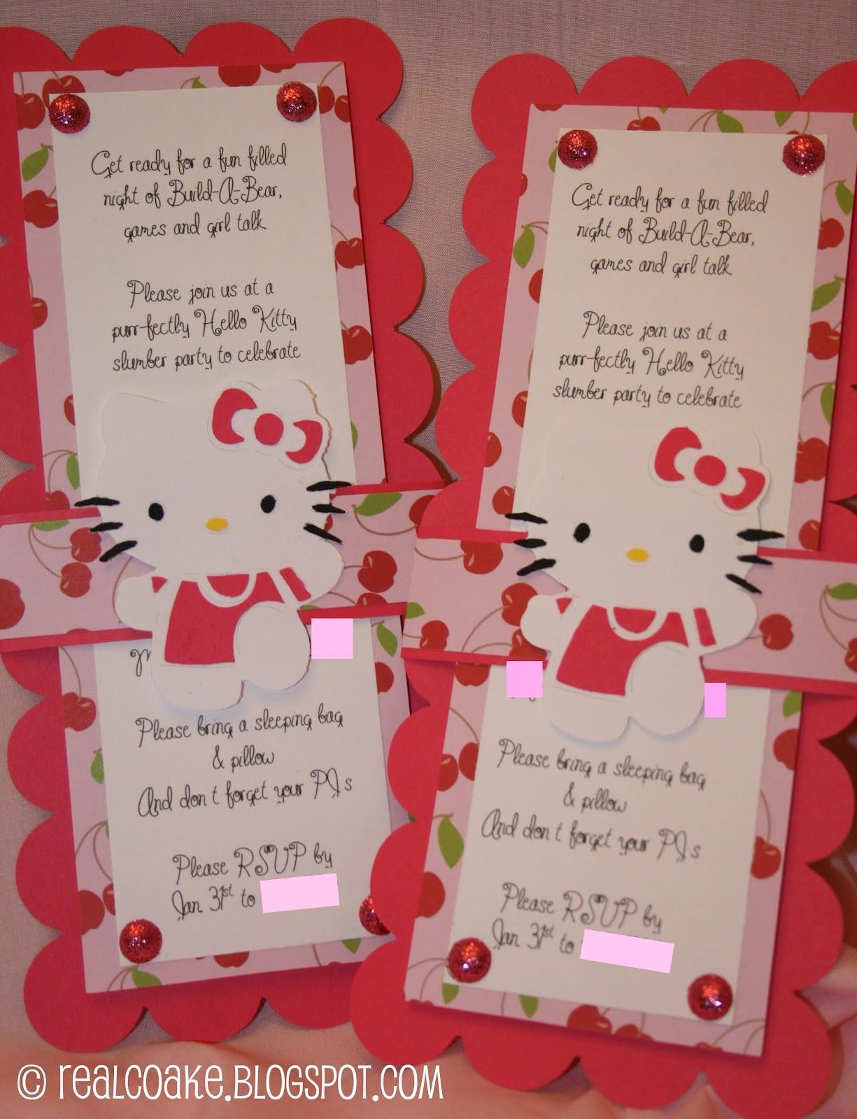 Hello Kitty Birthday Party Invitation Ideas