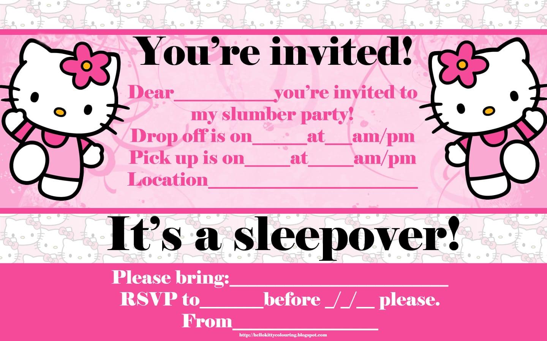 hello kitty invitation maker