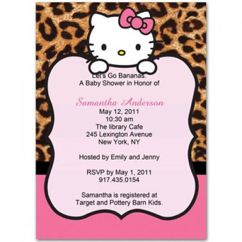 Hello Kitty Printable Baby Shower Invitations