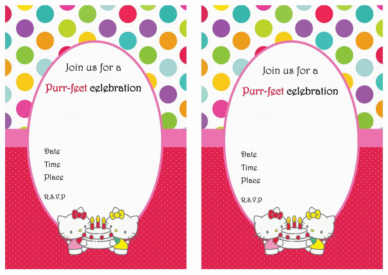 Hello Kitty Printable Birthday Invitations