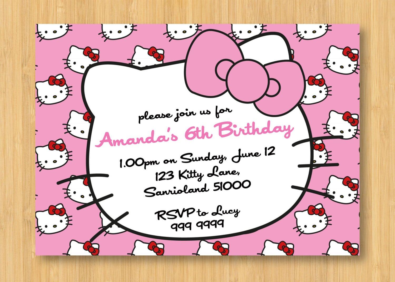 Hello Kitty Printable Birthday Invitations Free