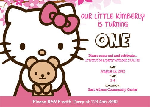 Hello kitty template invitation download filmwisefo Image collections