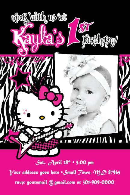 Hello Kitty Theme Party Invitation